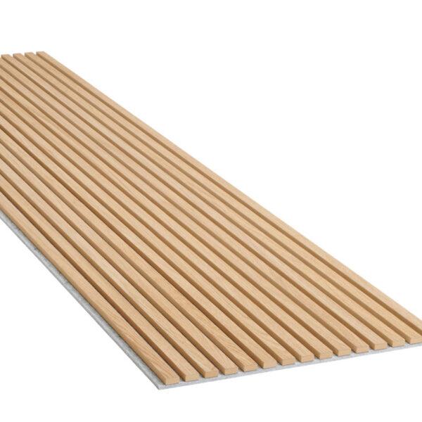 akupanel-er-bygd-opp-av-en-filt-laget-av-resirkulerte-plastflasker-spiler-i-gjennomfarget-mdf-og-en-tynn-finer-paa-fronten